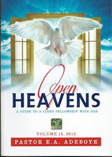 OPEN HEAVENS DEVOTIONAL BY PASTOR E.A ADEBOYE